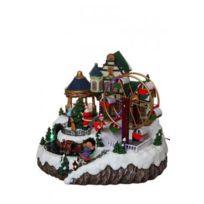 Féeric christmas - Village de noël à Led Roue et Train animé