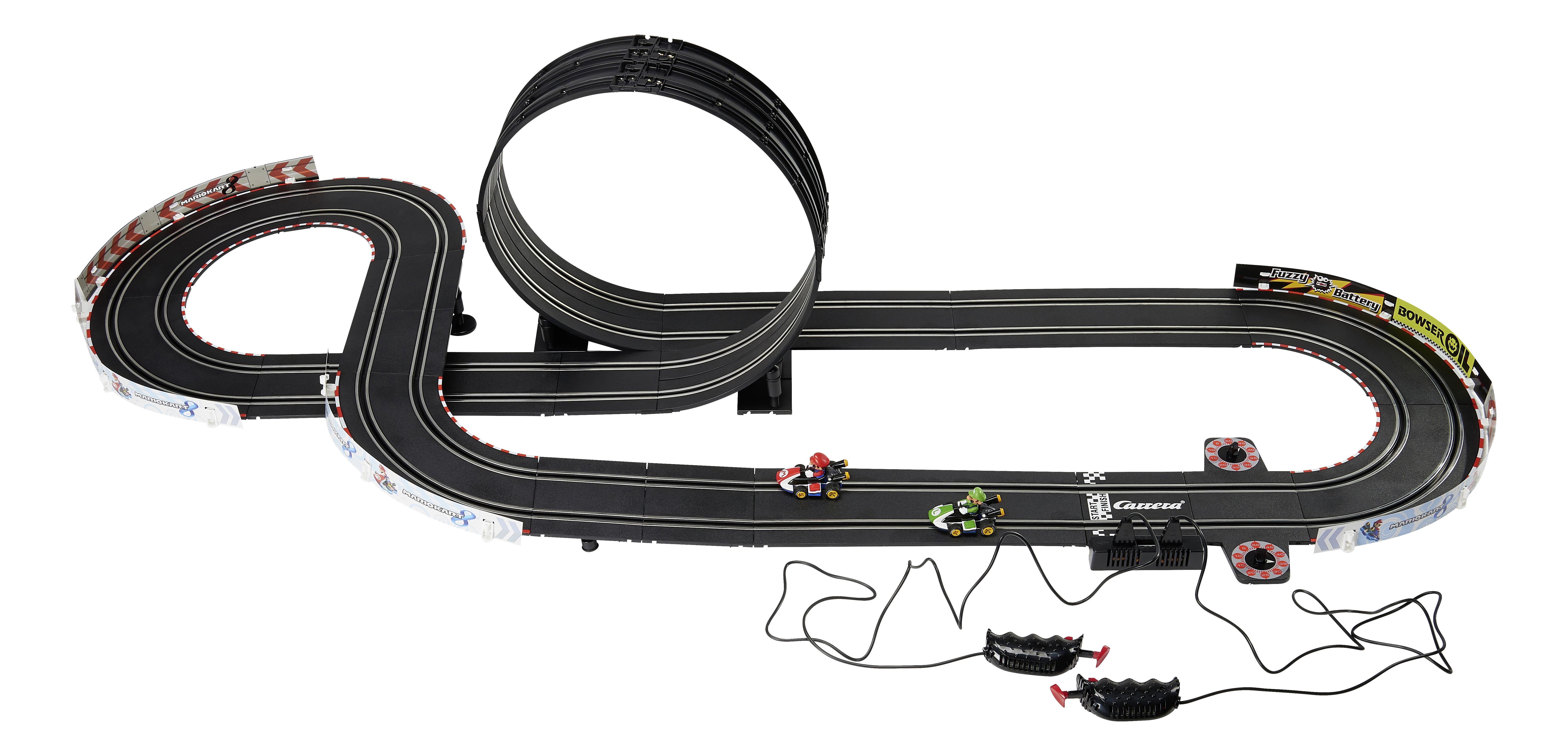 carrera go circuit lectrique mario kart 8 avec 2 voitures pas cher achat vente circuits. Black Bedroom Furniture Sets. Home Design Ideas