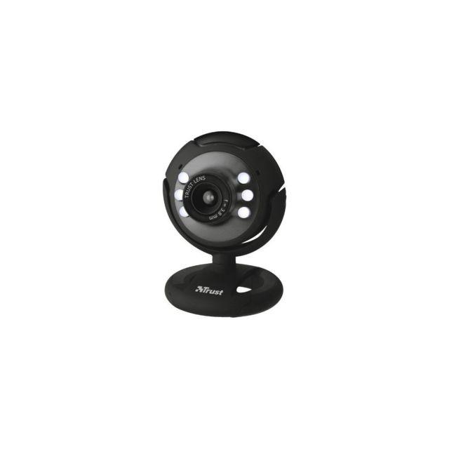 Trust Webcam 16429 Capture vidéo : 640 x 480 Compatibilité : Windows 8,7, Vista ou Xp Connectivité : Usb 2.0 Couleur : Noir Divers : Leds intégrées avec variateur, fixation réglable automatiquement Micro Intégré : Oui Type : Webcam Type de webcam : Standa