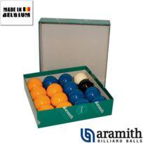 Aramith - Billes Pool Jaune & Bleu 50,8 mm