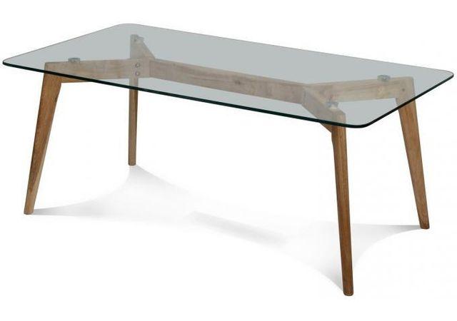 Declikdeco La Table basse 110X60X45CM Fiord tire son dessin des mobiliers de style scandinave. Adaptée à tout type d'intérieur, ell