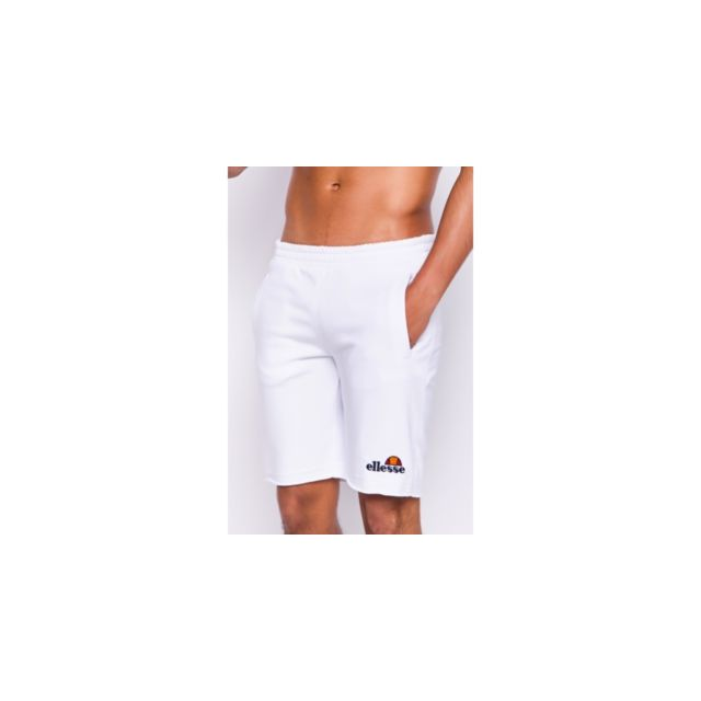 ELLESSE Short long molletonné blanc