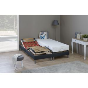 memorypur ensemble de relaxation avec 2 rang es plots matelas m moire de forme 2x80x200. Black Bedroom Furniture Sets. Home Design Ideas