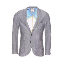 No Excess - Veste de blazer cintrée gris chiné texturé