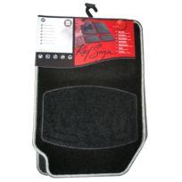 Red Sign - 4 tapis moquette Sun. Noir bordé sil