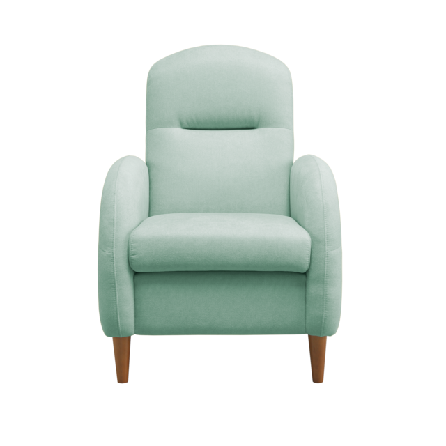 Mecazza Fauteuil Cosy 1 Place Elisabeth Water Green Tissu anti-tâche