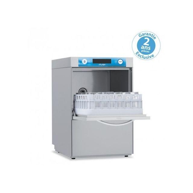 Materiel Chr Pro Lave Verre Professionnel avec adoucisseur en continu - panier 400 x 400 mm - Elettrobar - 220V monophase