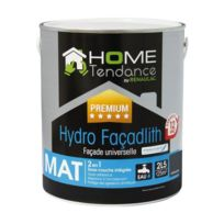 Home Tendance - Peinture façade universelle Hydro Façadlith hydropliolite 2,5 L gris anthracite mat - by Renaulac
