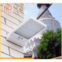 Lampe solaire 36 Led sans fil étanche avec détecteur de mouvement et lampe  extérieure pour jardin,Porte,Entrée, Lumière blanc chaude