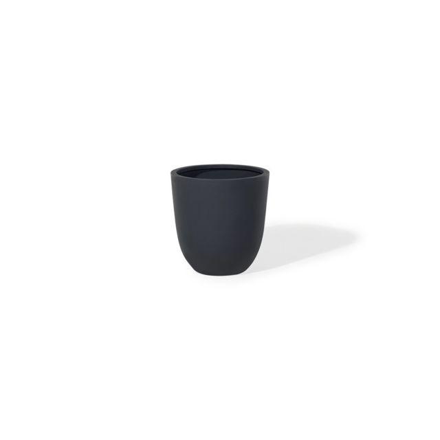 beliani cache pot accessoir de jardin 40x40x40 cm noir ohrit pas cher achat vente. Black Bedroom Furniture Sets. Home Design Ideas
