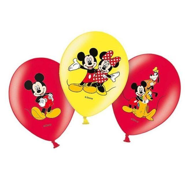 Sachet De 6 Ballon Mickey Mouse Déco Fête Anniversaire 007