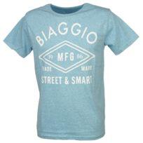 Biaggio - Tee shirt manches courtes Lyorita sky/blc mc tee Bleu 11658