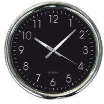 Horloge Murale Silencieuse Design - cadran noir