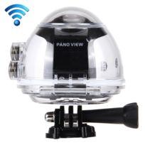 Wewoo - Caméra sport 360 degrés expérience Fisheyes Fhd 2440P WiFi Dv 8.0MP vidéo panoramique avec étui étanche