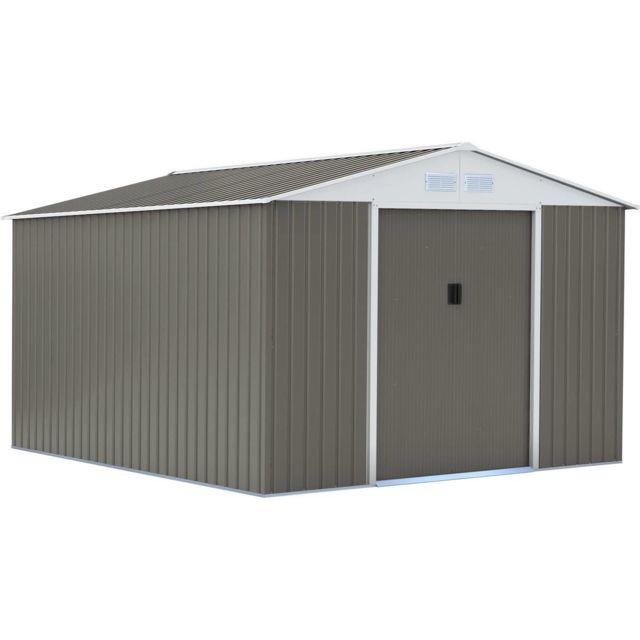 HABITAT ET JARDIN - Abri de jardin métal Dallas - 12.99 m² - pas ...