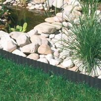 Windhager - Bordure à gazon anthracite 9m de long - 15cm