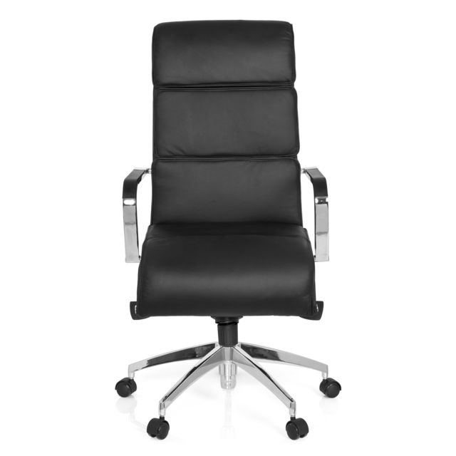 Hjh Office Siège de bureau / Fauteuil de direction Galesa cuir noir