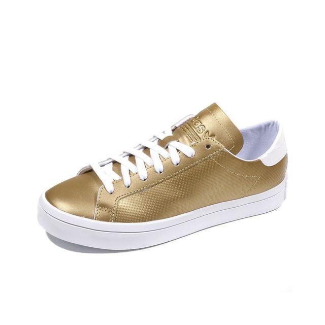 super popular 9cdcb e5b9a Adidas - Chaussures Court Vantage Or Femme Multicouleur 37 13 - pas cher  Achat  Vente Baskets homme - RueDuCommerce