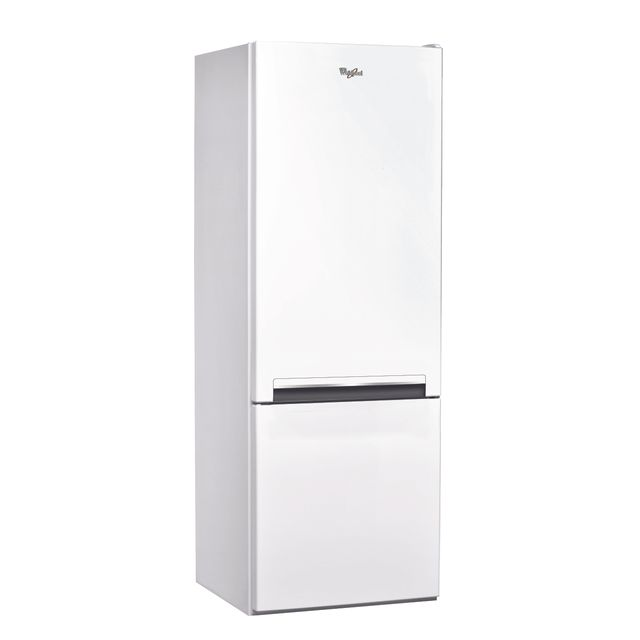 Whirlpool Réfrigérateur congélateur combiné BLF5001W Consommation 255 kWh/an, Dégivrage Réfrigérateur automatique/Congélateur manuel, Volume utile Réfrigérateur 196L/Congélateur 75L, Classe climatique SN.ST