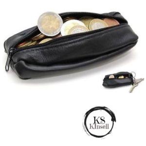 Kinsell Porte Monnaie Homme Cuir Véritable Noir Pas Cher Achat - Porte monnaie homme pas cher
