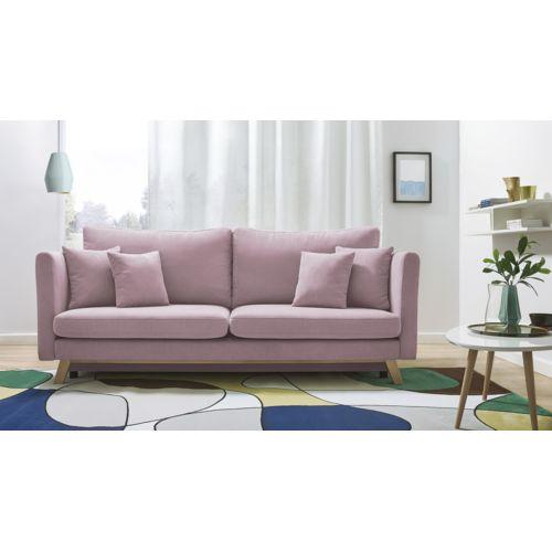bobochic canap triplo 3 places convertible rose poudr achat vente canap s pas chers. Black Bedroom Furniture Sets. Home Design Ideas