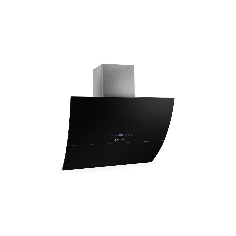 KLARSTEIN  RGL90BL Hotte Aspirante Sans Tête 90cm 550m³/h Verre Minuterie    Noir