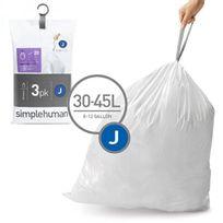 Simplehuman - 3 packs de 20 sacs poubelles de 30/45l - cw0259