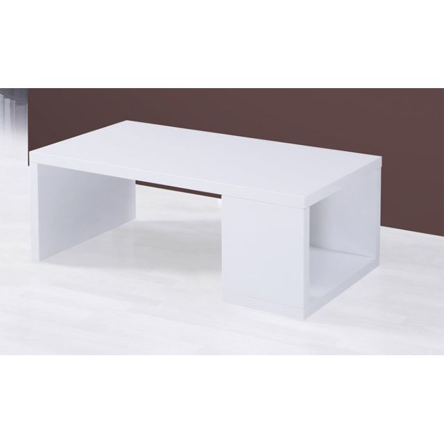 Sofamobili Table basse design blanc laqué George 2
