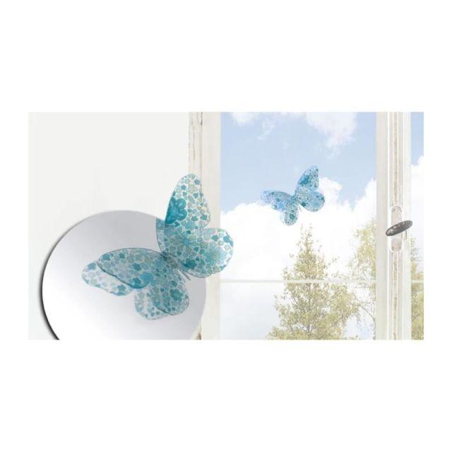 Marque Generique Lot De 7 Papillons Deco Murale 3d Liberty Azur