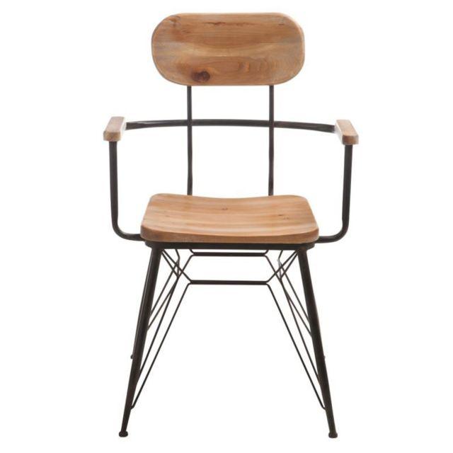 Chaise Design Métal & Bois