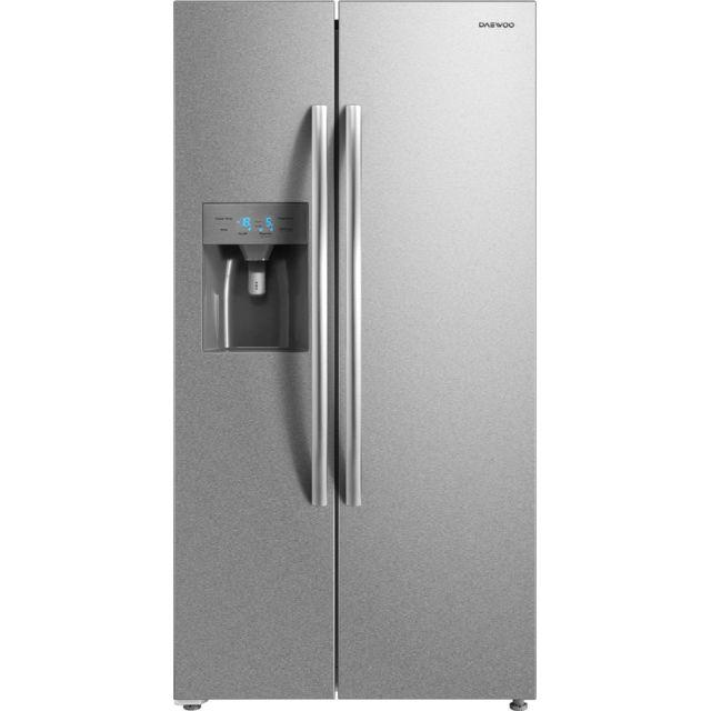 DAEWOO réfrigérateur américain 90cm 504l a+ nofrost inox - frnm570d2x