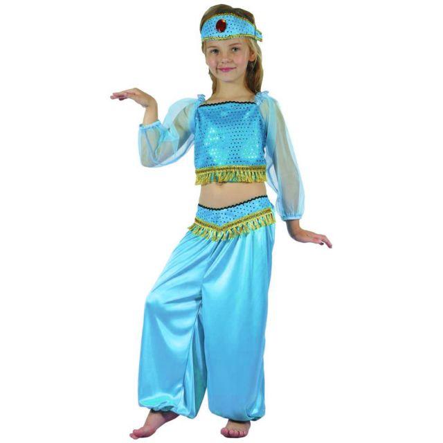 Sans - Déguisement danseuse orientale bleue fille - taille - 4 à 6 ans -  226046 cac70bd6230