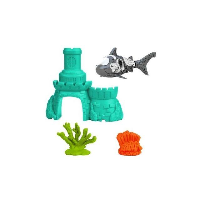 Goliath requin gris et blanc robo fish chateau 2 for Requin decoration