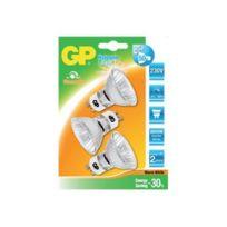 Gp Lighting - Gp Twist - Halogenglühlampe mit Reflektor - Gu10 - 35 W Entsprechung 50 W Warmweiß - 2800 K Packung von 3