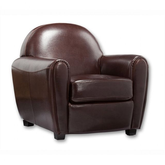 meubler design fauteuil club marron sebpeche31. Black Bedroom Furniture Sets. Home Design Ideas