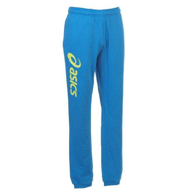 Asics - Pantalon de survêtement Sigma royal/lime pant Bleu 66296