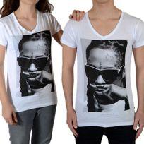 Little Eleven Paris - Tee Shirt Lil Ss Mixte Garçon / Fille, Lil Wayne Blanc