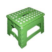 Zeller - 99163 Tabouret Pliant Color En Plastique Vert 32 X 25 X 22 Cm