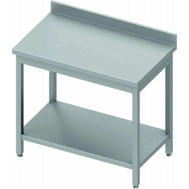 Materiel Chr Pro Table Inox Adossée avec Etagère - Gamme 800 - Stalgast - inox 400x800 800 à monter