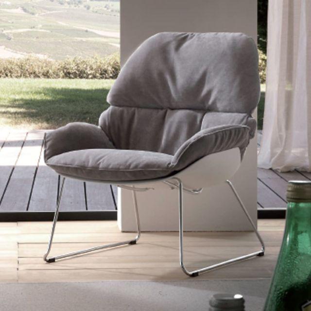 Nouvomeuble Fauteuil gris design Belfort