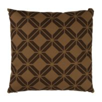 Mon Beau Tapis - Coussin Colonial Cannage 40x40cm, Chocolat