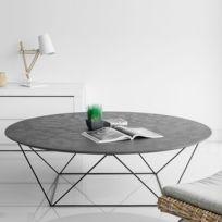 """Paris Prix - Table Basse """"Trapeze"""" Béton"""