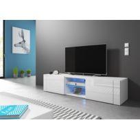 Meuble Tv Blanc Achat Meuble Tv Blanc Pas Cher Rue Du Commerce