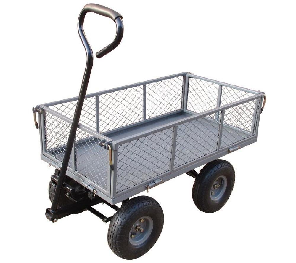 RUE DU COMMERCE Chariot de jardin multi-usage à bascule - Acier