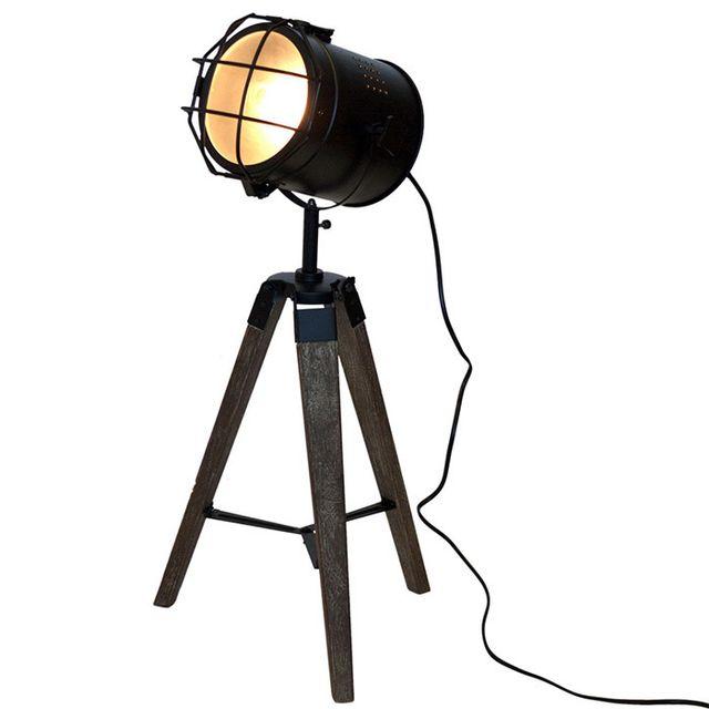 Touslescadeaux Lampe Trepied Projecteur Design Vintage Et Retro En