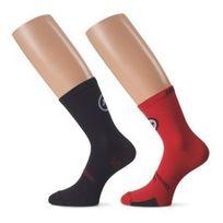Assos - Chaussettes tiburuSocks_evo8 noires rouges