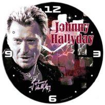 Johnny Halliday - Horloge bois Johnny Hallyday velvet