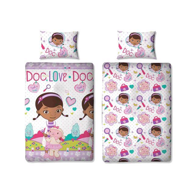 Docteur la peluche parure de lit hugs 135 x 200 cm rose - Housse de couette docteur la peluche ...