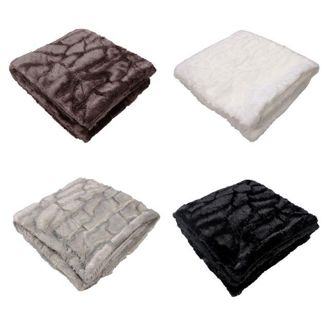 sans marque plaid polaire 125 x 150 cm cailles noir nc pas cher achat vente. Black Bedroom Furniture Sets. Home Design Ideas