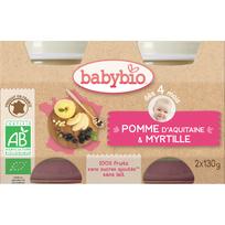 Babybio - Pots Pomme Myrtille dés 4 mois